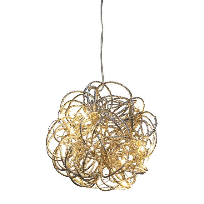 Metal wire globe w.10LED,LOOP WIRE, 2xAA 6h TIMER