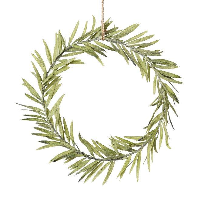 Deco wreath hanger , 25x25x3cm, green