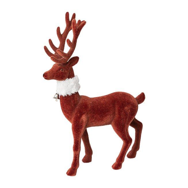 Deer Standing With Scarf,18x6x29 cm, Terra